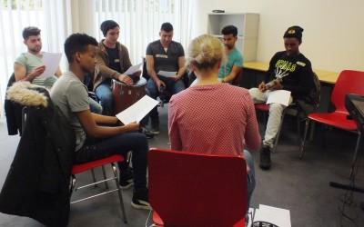 Danach möchten die Teilnehmer deutsche Lieder singen