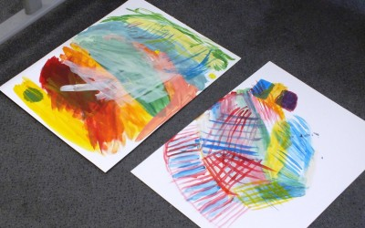 Erste Studien zu Farben und Formen