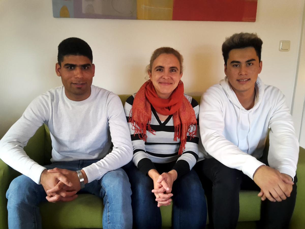 Interview mit Imran (li) und Mahdi (re) im Herbst 2017 in Neumarkt.